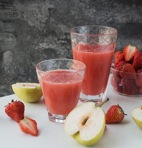 草莓雪梨汁